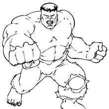 Dibujo para colorear : Los puños de Hulk