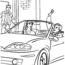 Dibujo para colorear : Mary jane Watson en un coche