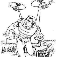Dibujo para colorear captura del Hombre de arena - Dibujos para Colorear y Pintar - Dibujos para colorear SUPERHEROES - Dibujos para colorear SPIDERMAN - Dibujos para colorear HOMBRE ARENA