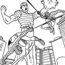 Dibujo para colorear batalla contra Veneno - Dibujos para Colorear y Pintar - Dibujos para colorear SUPERHEROES - Dibujos para colorear SPIDERMAN - Dibujos para colorear VENENO