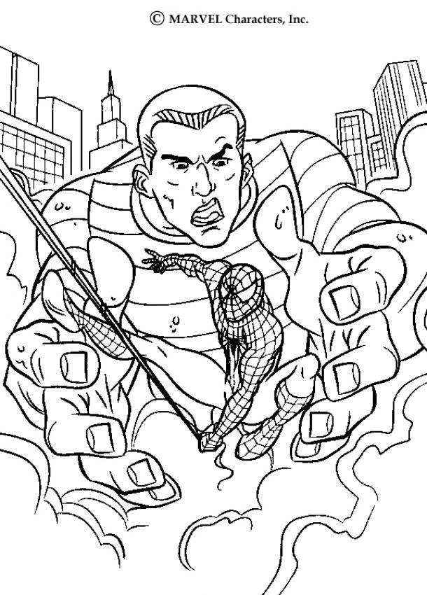Dibujos Para Colorear Spiderman En Las Manos Del Hombre De