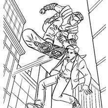 Dibujo para colorear Parker y el duende verde - Dibujos para Colorear y Pintar - Dibujos para colorear SUPERHEROES - Dibujos para colorear SPIDERMAN - Dibujos para colorear PETER PARKER