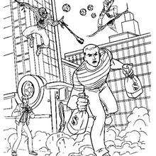 Dibujo para colorear el robo del Hombre de arena - Dibujos para Colorear y Pintar - Dibujos para colorear SUPERHEROES - Dibujos para colorear SPIDERMAN - Dibujos para colorear HOMBRE ARENA