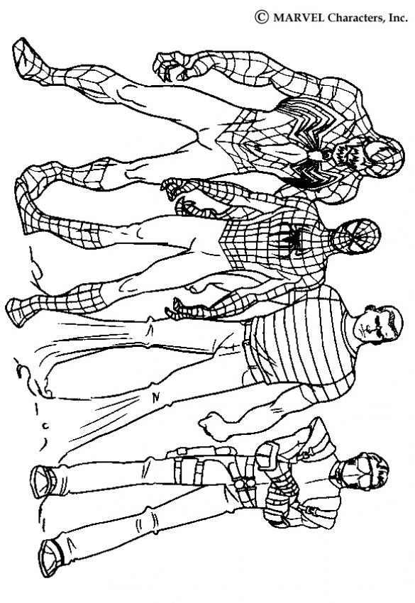 Dibujos para colorear SPIDERMAN, los personajes de Spiderman 3 ...
