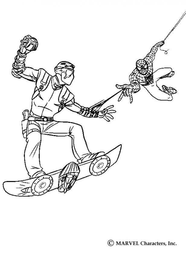 Dibujos para colorear spiderman contra el duende verde - es ...