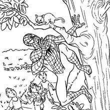 Dibujo para pintar el heroe Spiderman - Dibujos para Colorear y Pintar - Dibujos para colorear SUPERHEROES - Dibujos para colorear SPIDERMAN - Dibujos para pintar gratis SPIDERMAN