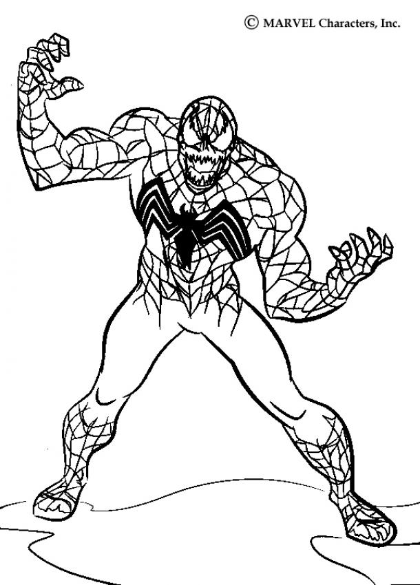 Spider-Man Free Venom Coloring Pages