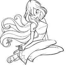 Dibujo para colorear : Bloom la hermosa Winx