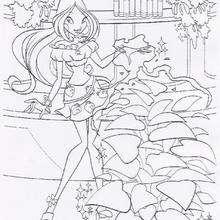 Dibujo para colorear a Flora - Dibujos para Colorear y Pintar - Dibujos para colorear PERSONAJES - PERSONAJES TV para colorear - Las Winx para colorear