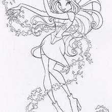 Los póderes de Flora de las Winx - Dibujos para Colorear y Pintar - Dibujos para colorear PERSONAJES - PERSONAJES TV para colorear - Las Winx para colorear