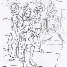 Las brujas Icy, Darcy y Stormy - Dibujos para Colorear y Pintar - Dibujos para colorear PERSONAJES - PERSONAJES TV para colorear - Las Winx para colorear