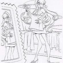 Dibujo para colorear a Stella - Dibujos para Colorear y Pintar - Dibujos para colorear PERSONAJES - PERSONAJES TV para colorear - Las Winx para colorear