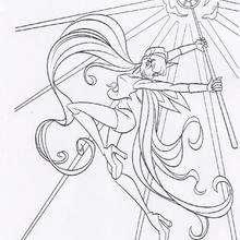 La varita mágica de Stella de las Winx - Dibujos para Colorear y Pintar - Dibujos para colorear PERSONAJES - PERSONAJES TV para colorear - Las Winx para colorear