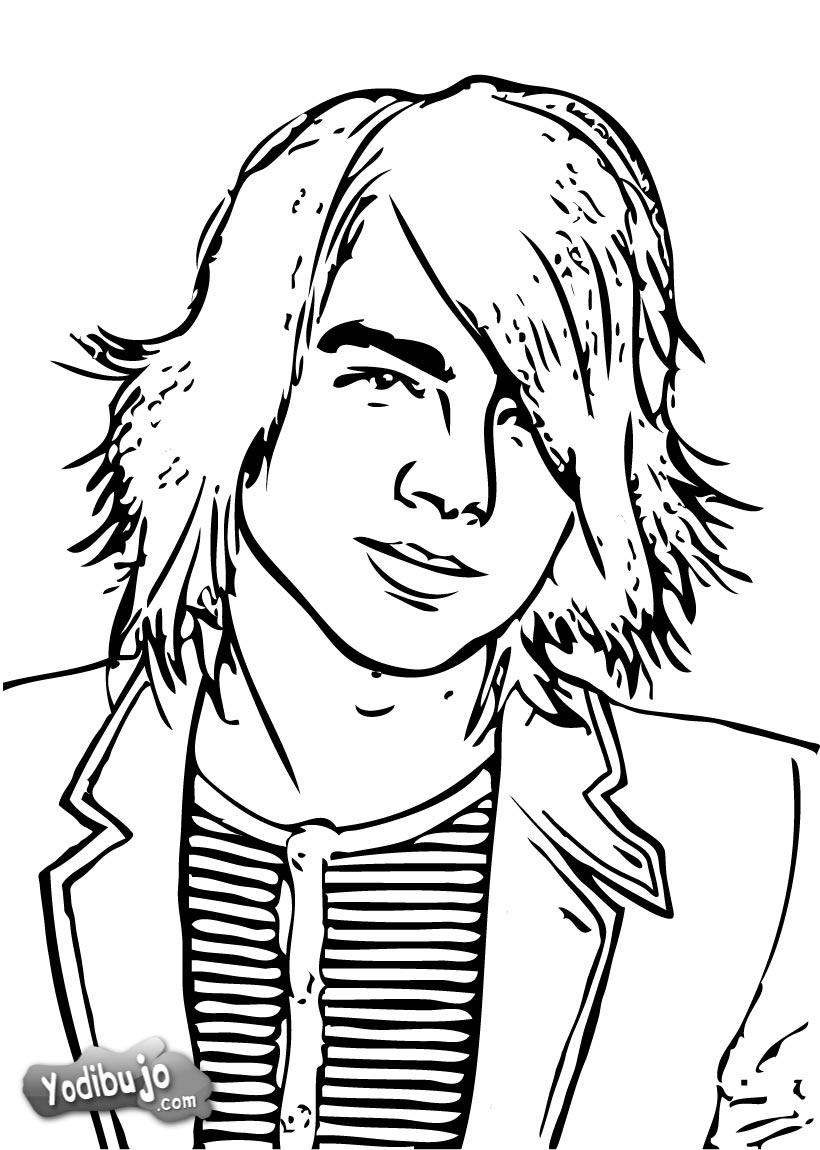 dibujo para colorear retrato de joe jonas para colorear dibujo para ...
