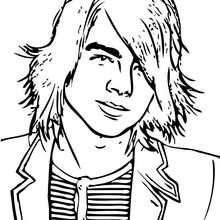 Joe Jonas retrato para colorear - Dibujos para Colorear y Pintar - Dibujos para colorear FAMOSOS - JONAS BROTHERS para colorear - JOE JONAS para colorear