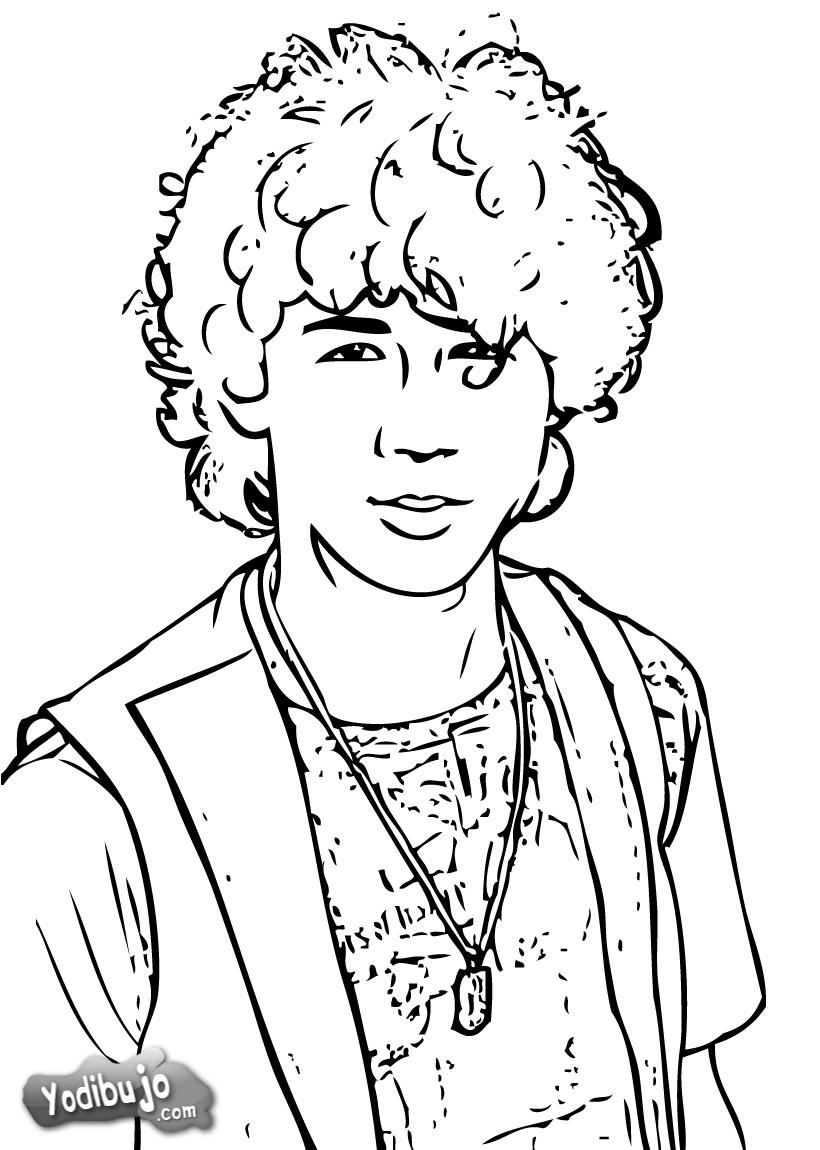 Dibujo para colorear : Nick Jonas retrato
