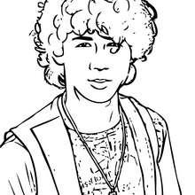 Nick Jonas retrato para colorear - Dibujos para Colorear y Pintar - Dibujos para colorear FAMOSOS - JONAS BROTHERS para colorear - NICK JONAS para colorear