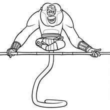 Dibujo para colorear : Maestro Mono el Yogi
