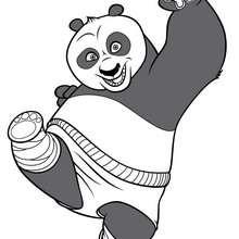 Po el oso panda - Dibujos para Colorear y Pintar - Dibujos de PELICULAS colorear - Dibujos para colorear KUNG FU PANDA PELICULA - Dibujos para colorear PO KUNG FU PANDA