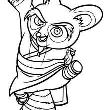 Dibujo para colorear : Shifu saltando