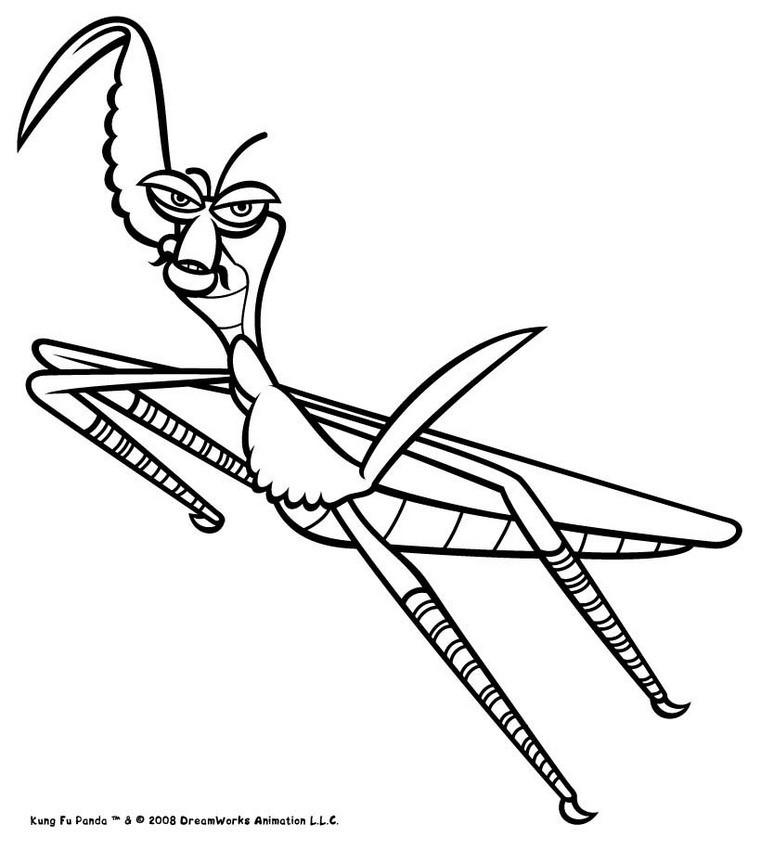 Dibujos para colorear mantis saltando - es.hellokids.com