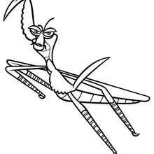 Mantis - Dibujos para Colorear y Pintar - Dibujos de PELICULAS colorear - Dibujos para colorear KUNG FU PANDA PELICULA - Dibujos para colorear MANTIS KUNG FU PANDA