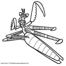 Dibujo para colorear : Mantis saltando