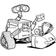 Wall-e con su caja de herramientas - Dibujos para Colorear y Pintar - Dibujos DISNEY para colorear - Dibujos para colorear PERSONAJES DISNEY - Dibujos para colorear WALL-E