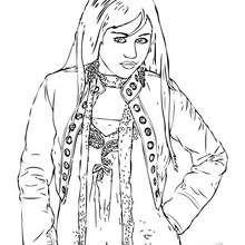 Dibujo para colorear : Hannah Montana hermosa