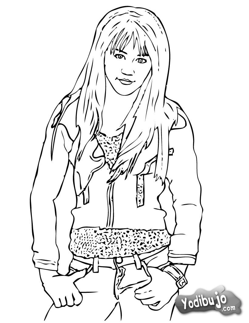 Dibujo para colorear : Hannah Montana VS Miley Cirus