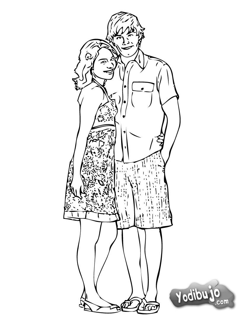 Dibujo para colorear : Zac y Nessa
