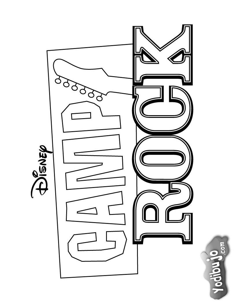 Dibujos para colorear camp rock  eshellokidscom