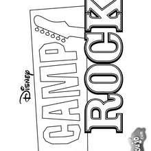Dibujo para colorear : Camp Rock