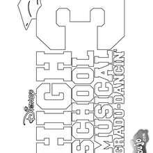 HSM para pintar - Dibujos para Colorear y Pintar - Dibujos para colorear FAMOSOS - HSM para colorear