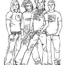 Dibujo para colorear : Tokio Hotel