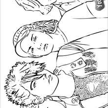 Dibujo para colorear : Tokio Hotel: retratos