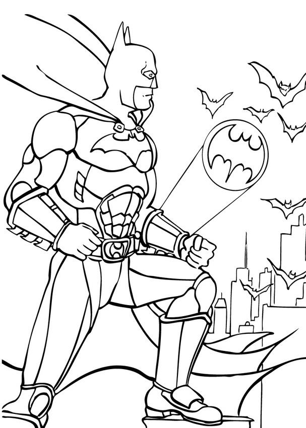 Dibujos para colorear batman el hombre murcilago  eshellokidscom