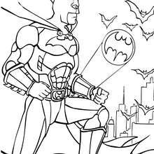 Batman: el hombre murciélago - Dibujos para Colorear y Pintar - Dibujos para colorear SUPERHEROES - Dibujos para colorear BATMAN - Dibujos para colorear HOMBRE MURCIELAGO