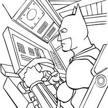 Dibujo para colorear : Batman conduciendo