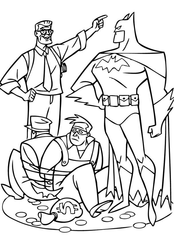 Dibujos para colorear batman con james gordon - es ...