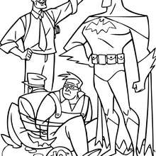 Dibujo para colorear : Batman con James Gordon