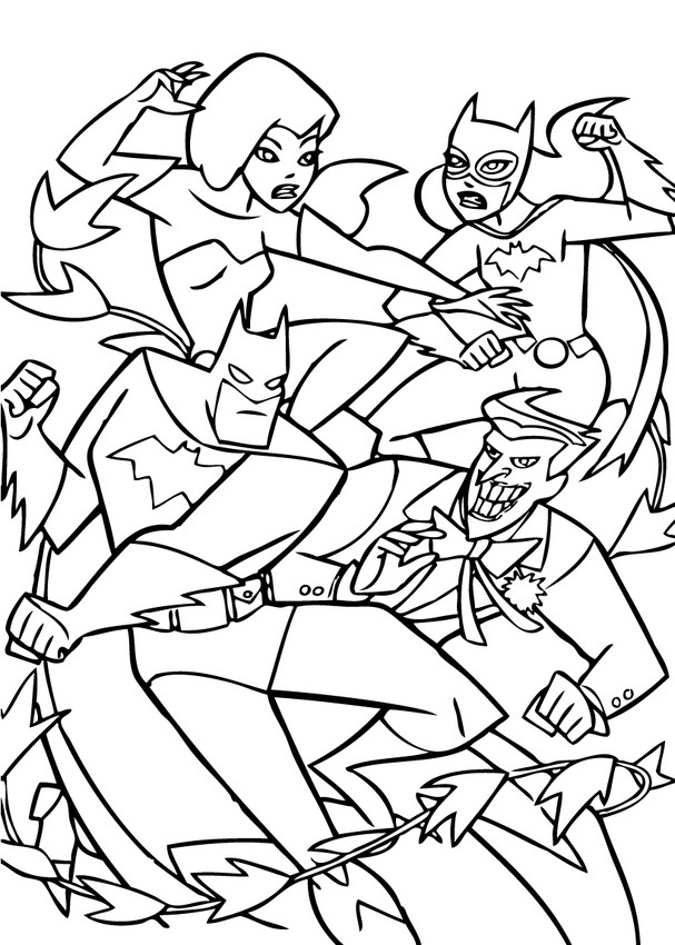 Dibujos para colorear batman, el joker, batgirl, hiedra ...
