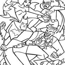 Batman, el Joker, Batgirl, Hiedra Venenosa - Dibujos para Colorear y Pintar - Dibujos para colorear SUPERHEROES - Dibujos para colorear BATMAN - Dibujos para colorear JOKER