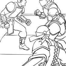 Bruce Wayne contra kyodi ken - Dibujos para Colorear y Pintar - Dibujos para colorear SUPERHEROES - Dibujos para colorear BATMAN - Dibujos para colorear KYODI KEN