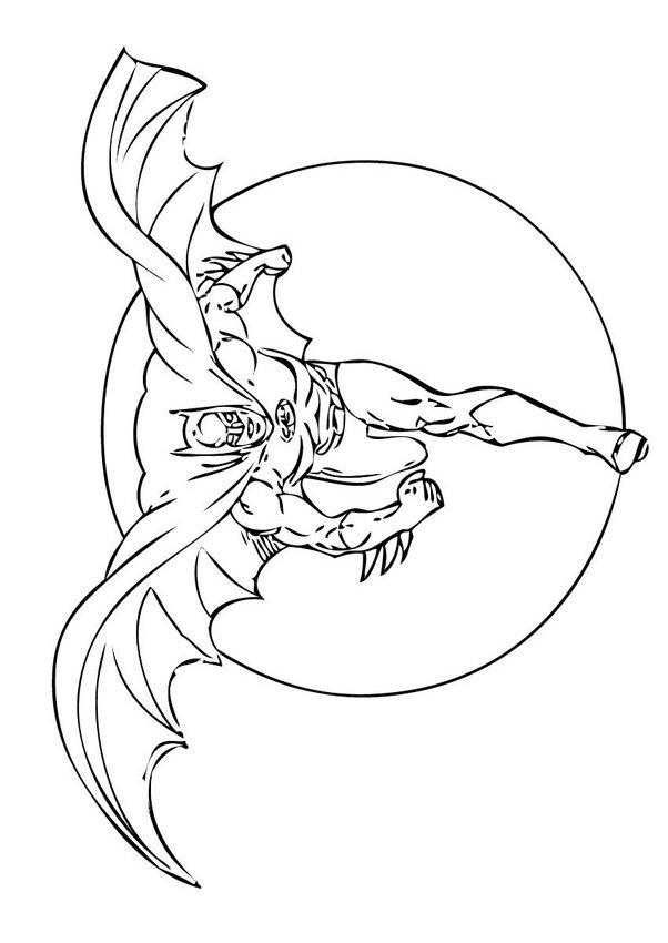 Dibujos para colorear hombre murciélago corriendo - es ...