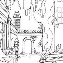 La horrible ciudad de Gotham - Dibujos para Colorear y Pintar - Dibujos para colorear SUPERHEROES - Dibujos para colorear BATMAN - Dibujos para colorear GOTHAM CITY