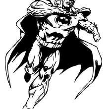 Batman corriendo - Dibujos para Colorear y Pintar - Dibujos para colorear SUPERHEROES - Dibujos para colorear BATMAN - Dibujos para colorear e imprimir de BATMAN
