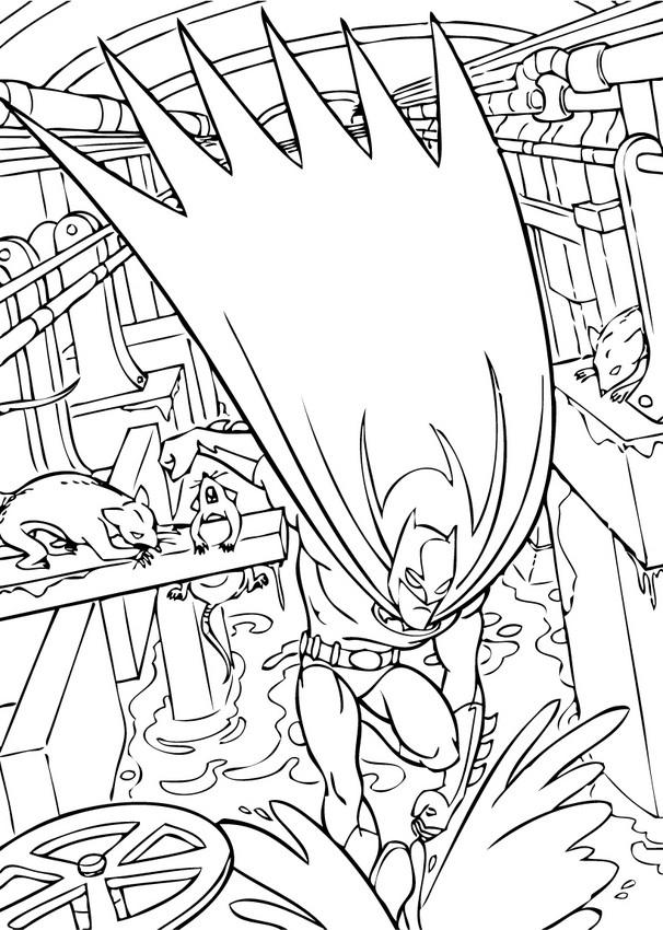 Dibujos para colorear batman en los desagües - es ...