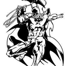 Batman con su cuerda - Dibujos para Colorear y Pintar - Dibujos para colorear SUPERHEROES - Dibujos para colorear BATMAN - Dibujos para colorear e imprimir de BATMAN