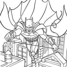 Batman saltando - Dibujos para Colorear y Pintar - Dibujos para colorear SUPERHEROES - Dibujos para colorear BATMAN - Dibujos para pintar BATMAN GRATIS